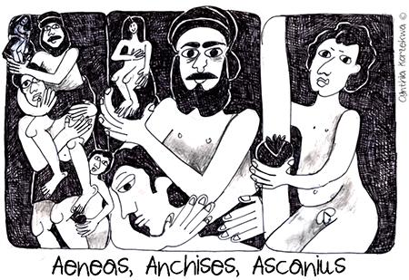 Aeneas, Anchises, Ascanius