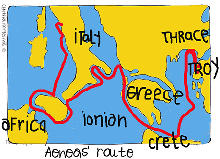 Aeneas' Route Home