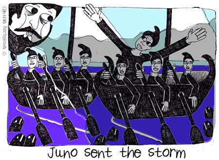 Juno sent the storm