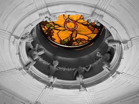 Casina delle Civette ceiling