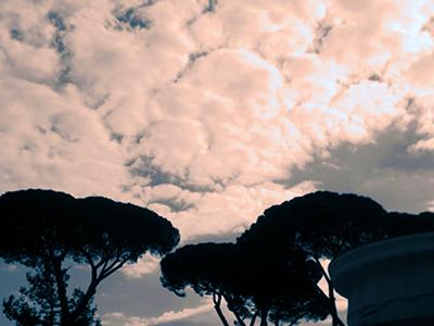 the sky follows me wherever I go