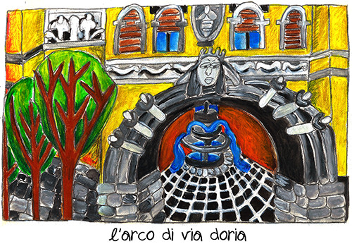 L'arco di via Doria